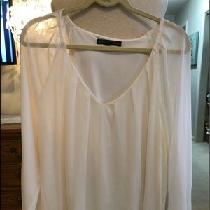 Rise & olive Cream polyester lined top